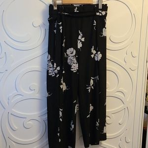 Cropped Belted Wide Leg Pants - Size 1X